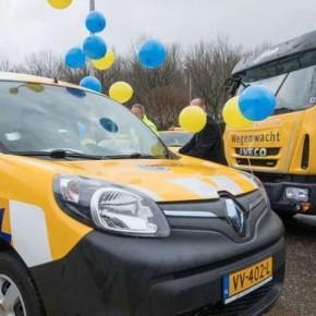 Wegenwacht test waterstofauto met omgebouwde Renault Kangoo